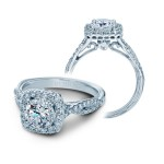 Verragio Twist Shank Halo Diamond Engagement Ring