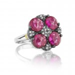Tacori City Lights Lotus Four Gem Pave Ring