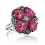 Tacori City Lights Bold Lotus Four Gem Ring