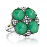 Tacori City Lights Bold Lotus Four Gem Pave Ring