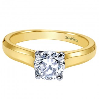 Engagement Ring 14k Yellow Gold Solitaire