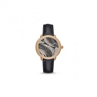 Serein 16 Diamond Rose Gold, Willow Diamond Dial Black Alligator Watch