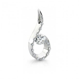 Gelin Abaci 14k White Gold Diamond Pendant TN-055