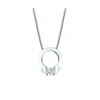 Gelin Abaci 14k White Gold Diamond Pendant TN-001