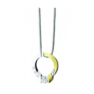 Gelin Abaci 14k White Gold Diamond Pendant TN-004