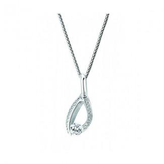 Gelin Abaci 14k White Gold Diamond Pendant TN-042
