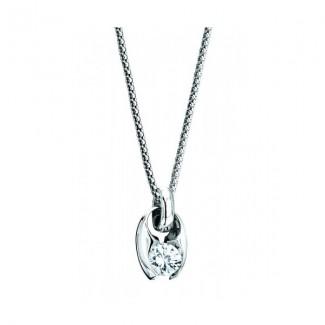 Gelin Abaci 14k White Gold Diamond Pendant TN-047