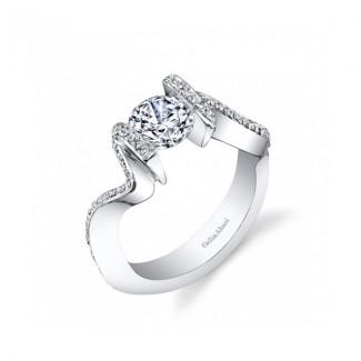 Gelin Abaci Unique Tension Set Diamond Engagement Ring TR-261