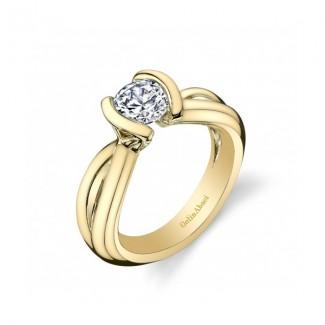 Gelin Abaci 14k White Gold Diamond Engagement Ring TR-263