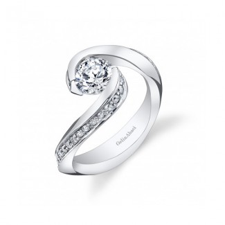 Gelin Abaci 14k White Gold Diamond Engagement Ring TR-266