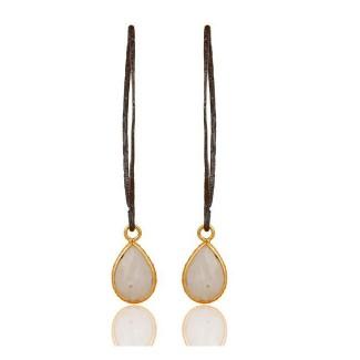 Celine Drop Earring In Reclaimed Sterling Silver + 22K Gold Vermeil
