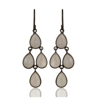 St Tropez Earrings In Oxidized Reclaimed Sterling Silver