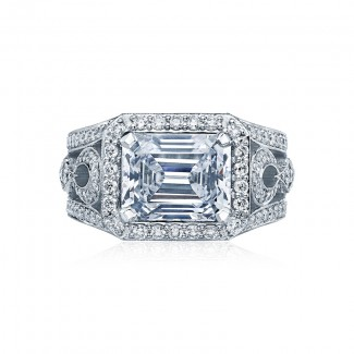 Tacori RoyalT Collection Ribbon Twisted Engagement Ring HT2610EC10X8