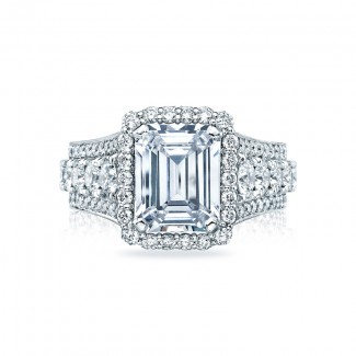 Tacori RoyalT Collection Emerald Cut Engagement Ring HT2613EC10X8