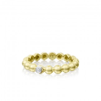 Tacori Sonoma Mist Gold Beaded Dew Drop Ring