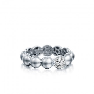 Tacori Sonoma Mist Silver Beaded Pave Dew Drop Ring