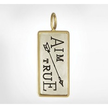 Original Framed ID Tag Charm