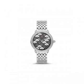 Serein 16 Diamond, Black Fan Diamond Dial Watch
