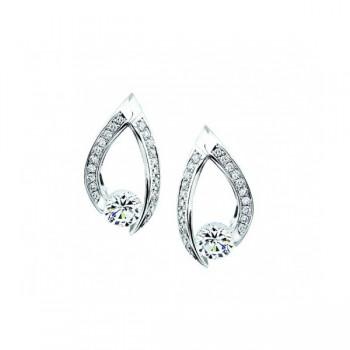 Gelin Abaci 14k White Gold Diamond Earring TE-015