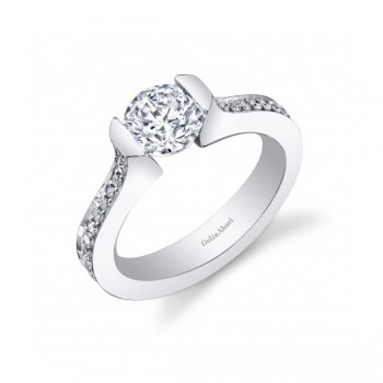Gelin Abaci Tension Set Pave Engagement Ring TR-255
