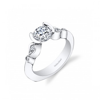 Gelin Abaci Tear Drop Tension Set Engagement Ring TR-260