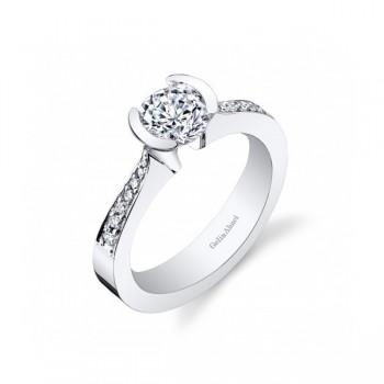 Gelin Abaci Tension Set Diamond Engagement Ring TR-262