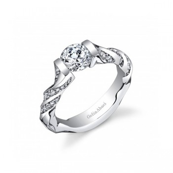Gelin Abaci Twisting Tension Set Engagement Ring TR-275