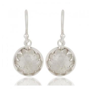 Lotus Earrings In Reclaimed Sterling Silver