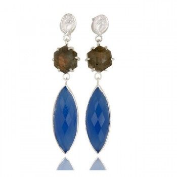 Madison Earrings In Reclaimed Sterling Silver