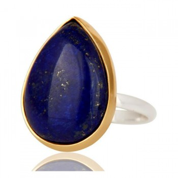 Lapis Lazuli Ring In Mixed Metal