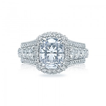 Tacori RoyalT Collection Grand Cushion Engagement Ring HT2613CU10X8