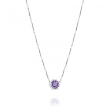 Tacori Lilac Blossoms Mixed Metal Crescent Necklace