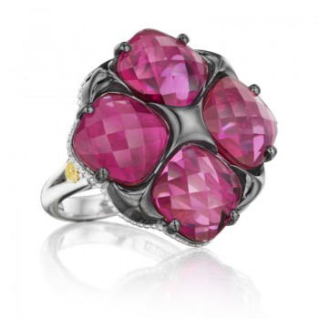 Tacori City Lights Bold Lotus Four Gem Tilt Ring