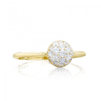 Tacori Sonoma Mist Gold Pave Dew Drop Ring