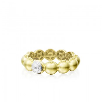 Tacori Sonoma Mist Bold Gold Beaded Dew Drop Ring