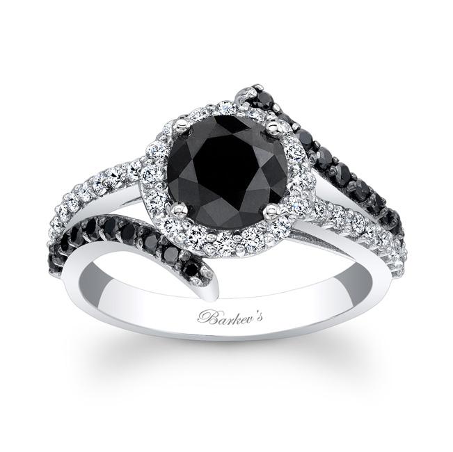 Black Diamond Wedding Band.Barkev S Black Diamond Engagement Ring Bc 7857lbkw
