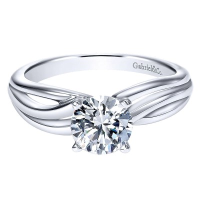 Engagement Ring 14k White Gold Free Form