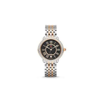 Serein 16 Diamond Two-Tone Rose Gold, Black Diamond Dial Watch