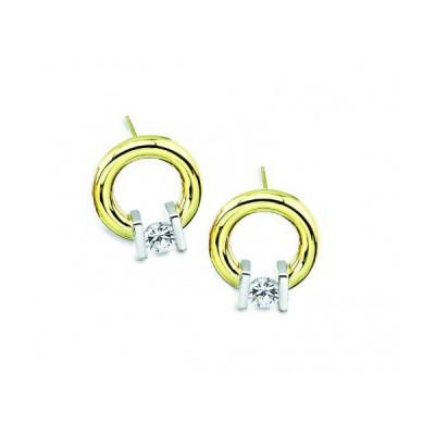 Gelin Abaci 14k Yellow Gold Diamond Earring TE-005