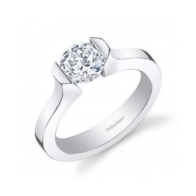 Gelin Abaci 14k White Gold Diamond Engagement Ring TR-257