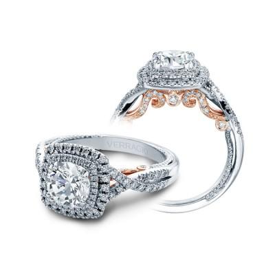 Verragio Double Halo Twist Engagement Ring