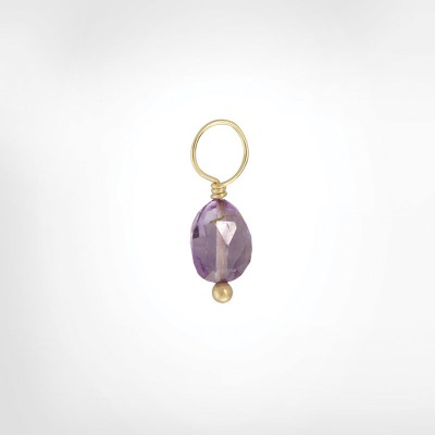 Purple Amethyst Faceted Oval