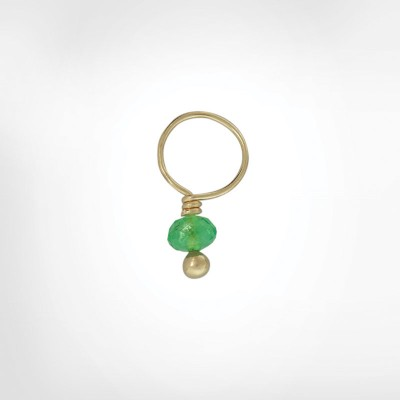 Emerald Faceted Rondelle