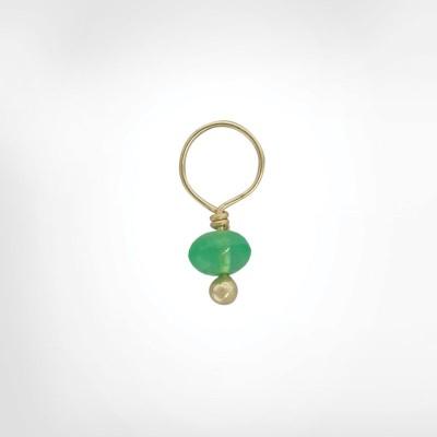 Emerald Unfaceted Rondelle