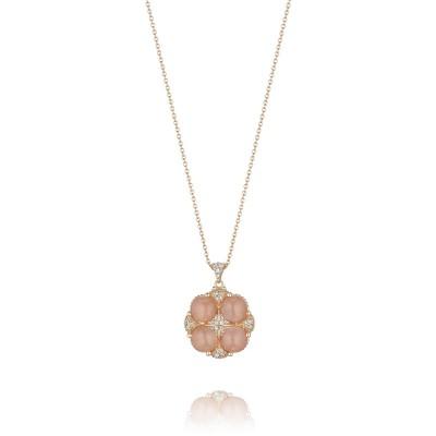 Tacori Moon Rosé Pave Lotus Four Gem Pendant