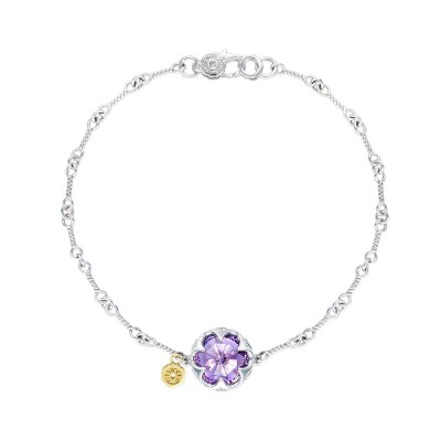 Crescent Gemstone Bracelet featuring Amethyst