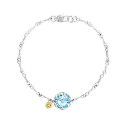 Crescent Gemstone Bracelet featuring Sky Blue Topaz