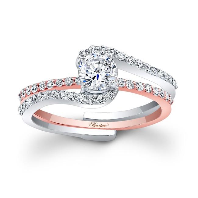 Barkev S Rose Gold Bridal Set 7907stw