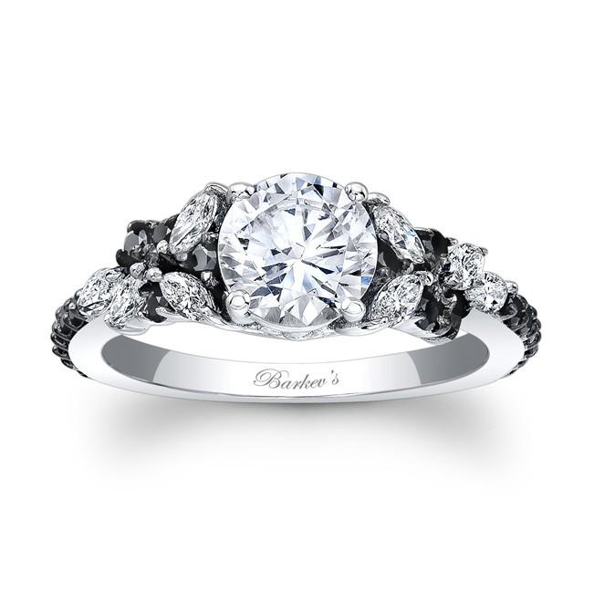 Black Diamond Wedding Ring.Barkev S Black Diamond Engagement Ring 7932lbkw