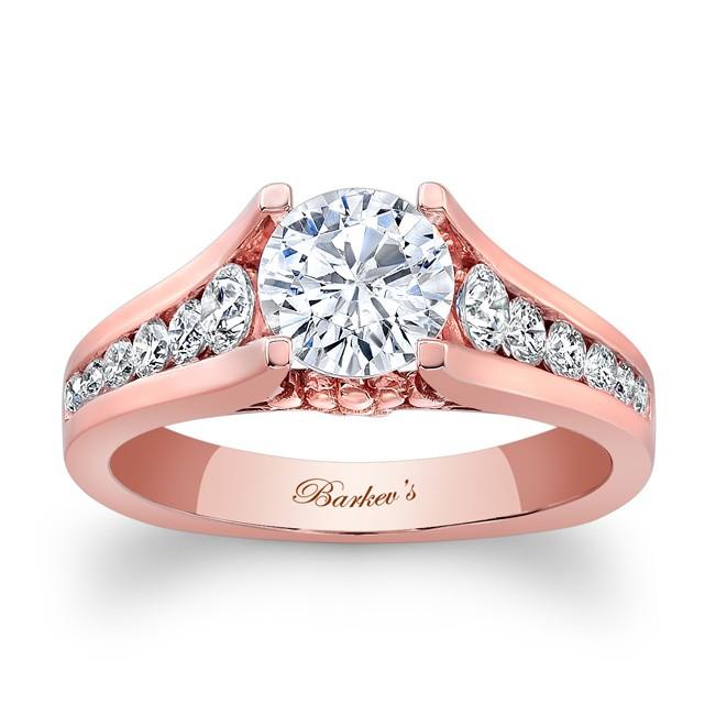 11189e516 Barkev's Rose Gold Engagement Ring 7940LPW